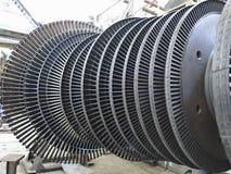 Power generator steam turbine during repair at power plant Stock Images