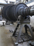 Power generator steam turbine during repair at power plant Royalty Free Stock Photos