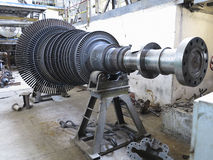 Power generator steam turbine during repair at power plant Royalty Free Stock Photo