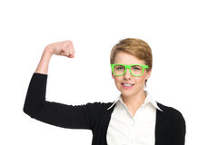 Power girl. Royalty Free Stock Photo