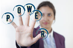 Power girl. Hand young girl with power royalty free stock images
