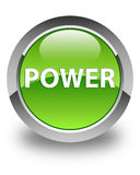 Power glossy green round button. Power isolated on glossy green round button abstract illustration Royalty Free Stock Photo