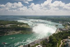 Niagara falls in Canada. The power of the great falls located in Niagara, in eastern North America, between the American state of New York and the Canadian Royalty Free Stock Photo