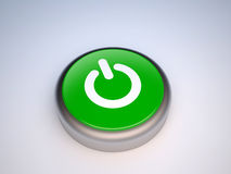 Power green button Royalty Free Stock Photos