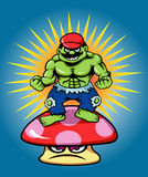 Power of Green Giant and Mushroom Royalty Free Stock Photography