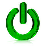 Power On Green Icon Royalty Free Stock Photo