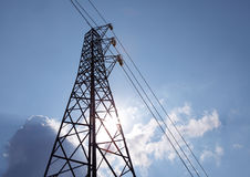 Power grid pylon Stock Photos
