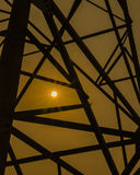 Power grid tower Stock Photography