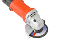 Power grinder on white background Royalty Free Stock Images