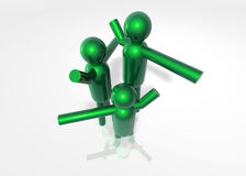 Power Group. A 3d model made to define the teamwork concept use it and enjoy Stock Image