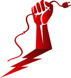Power hand risk logo Stock Image