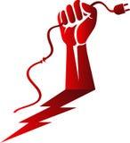 Power hand risk logo vector illustration