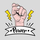Power hand strong revolution protest Royalty Free Stock Photos