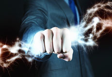 Power in hands Stock Images