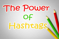 The Power Of Hashtags Concept Stock Photo