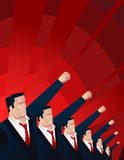 The power. We have the power, men holding up their fist  illustration Royalty Free Stock Photos