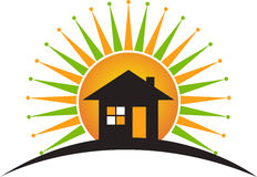 Power home logo. Illustration art of a power home logo with isolated background Stock Photography