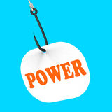 Power On Hook Shows Super Energy And Success Royalty Free Stock Photo