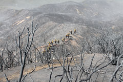Power House Fire ~ Santa Clarita Mountains ~ Summer Of 2013 Stock Images