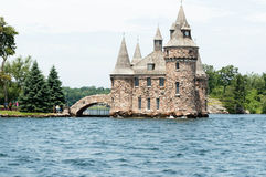 Power House on Heart Island, Alexandria Bay, New York. Heart Island was a project by George Boldt circa 1900 as a gift for his wife. Along with a castle like Royalty Free Stock Image