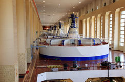Power house, Turbines generators Royalty Free Stock Image