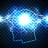 Power of human mind concept Royalty Free Stock Photography
