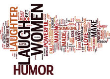 The Power Of Humor Text Background Word Cloud Concept Stock Images