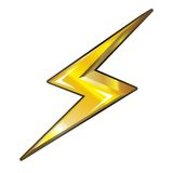 Power icon. Electric power icon vector illustration isolated on white background Royalty Free Stock Image