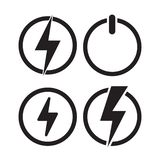 Power icon, Electric icon. Vector. Power icon, Electric icon. Vector illustration on black background royalty free illustration
