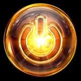Power icon glass. Stock Photos