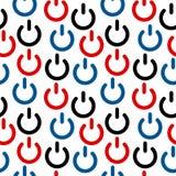 Power icon seamless pattern Stock Image