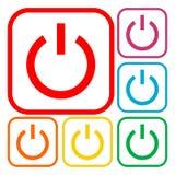 Power Icon Silhouette - Illustration Royalty Free Stock Photos