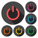 Power Icon Silhouette - Illustration. Vector icon Stock Photo