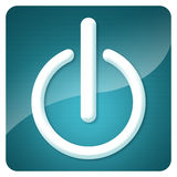 Power icon- switch Royalty Free Stock Photos