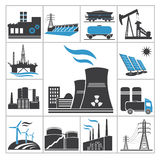Power icons royalty free illustration