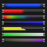Power indicator. Set of different power tube indicators Royalty Free Stock Image