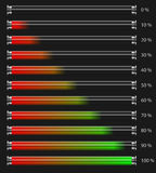 Power indicator. Set of power indicators in a different conditions Royalty Free Stock Images