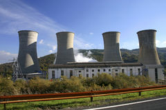 Power Industry. A thermal electricity generating power station Royalty Free Stock Image