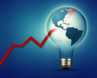 Power and industry abstract backgrounds with electrical bulb and. Chart Stock Photography