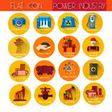 Power Industry Collection Icon Set Stock Images