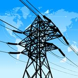 Power industry concept. Vector illustration of power industry concept royalty free illustration