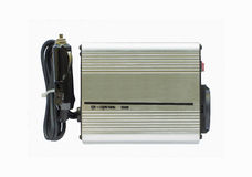Power Inverters,DC to AC from car battery Royalty Free Stock Photography