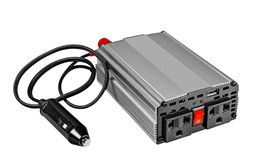 Power inverters,DC to AC from car Royalty Free Stock Image