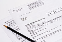 Power invoice Royalty Free Stock Photography