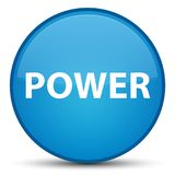 Power special cyan blue round button. Power isolated on special cyan blue round button abstract illustration Royalty Free Stock Photo