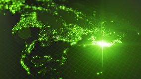 Power of japan, energy beam on tokyo. dark map with illuminated cities and human density areas. 3d illustration. Power of japan, energy beam on tokyo. dark map royalty free illustration