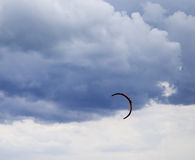 Power kite in sea and cloudy sky Royalty Free Stock Photos