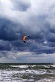 Power kite at sky before rain Stock Photos