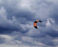 Power kite at sky before rain Royalty Free Stock Image