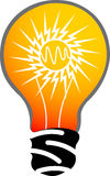 Power lamp logo. Illustration art of a power lamp logo with isolated background Stock Photos